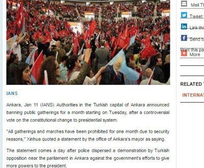 Во Анкара забранети сите јавни собири