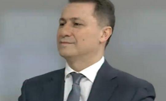 Груевски најави политички документ    платформа за зачувување на Македонија