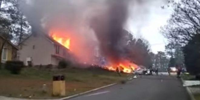 Aвион Cessna Citation I  удри во станбена зграда во САД