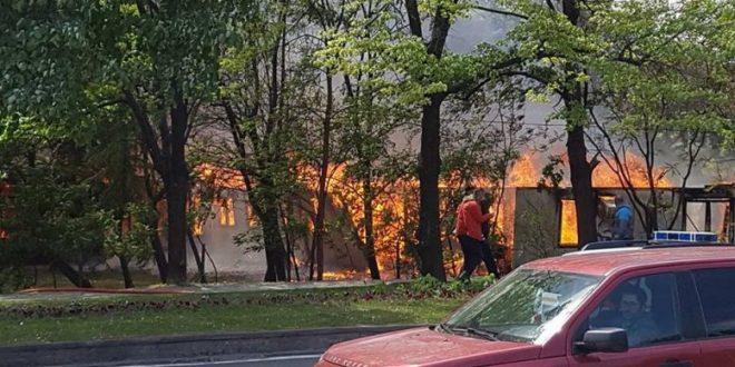 Голем пожар беснее во бараките кај СУГС  Здравко Цветковски