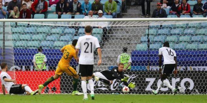 Килава победа  на Германија против над Австралија на Купот на Конфедерации
