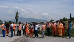 Протести на работниците ангажирани за изградбата на автопатот Кичево – Охрид