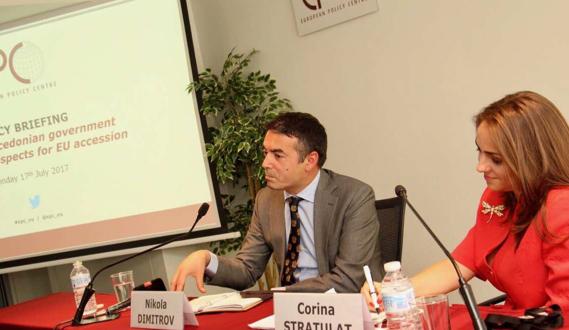 Димитров гo претстави планот  3 6 9  во Центарот за европски политики во Брисел