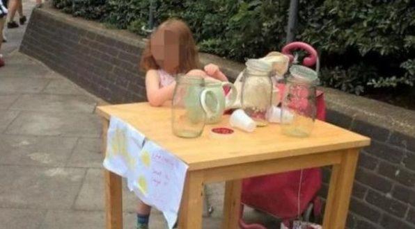 Лондон  Парично казнето 5 годишно девојче оти продавалo лимонада на недозволено место
