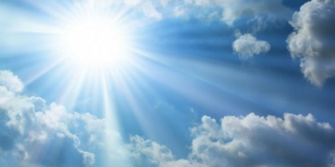 Сончево со мала до умерена облачност  попладне ќе има локална појава на пороен дожд и грмежи