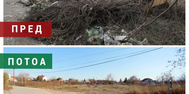 Марин  Во Општина Аеродром се исчистени 27 депонии и 22 зелени потези  продолжуваме со санација