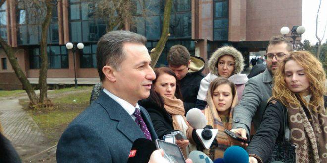 Груевски  Во судот треба да ми дадат канцеларија и плата  толку често доаѓам