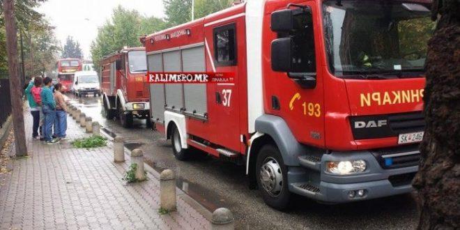 """Изгаснат пожарот во станот на бул. """"Трета МУБ"""" во Куманово"""