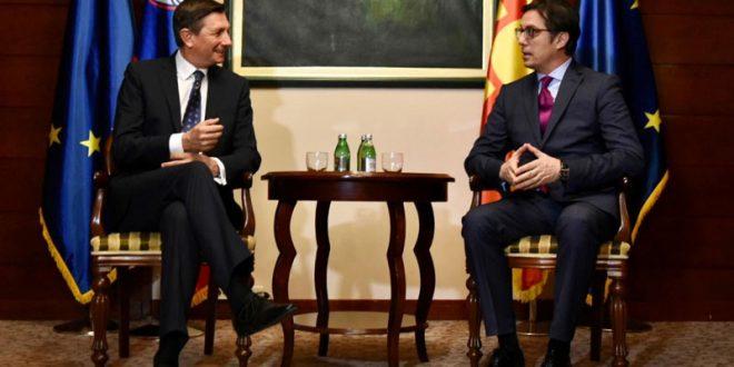 Пахор во Скопје на средба со Пендаровски