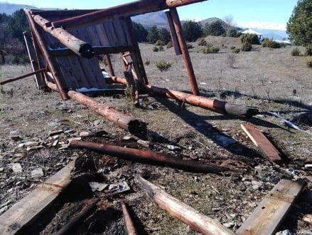 Град Скопје: Уништен видиковец на врвот на Водно