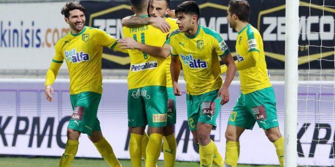 Тричковски со два нови гола за АЕК Ларнака, двата од пенал