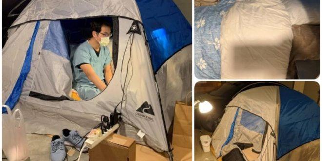 Заради Ковид-19 кампува во својата куќа: Екстремни мерки на американскиот пулмолог ги воодушеви сите (ФОТО)