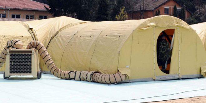 Ќе има 130 кревети: Мобилната болница до Инфективната клиника подготвена за прием на пациенти