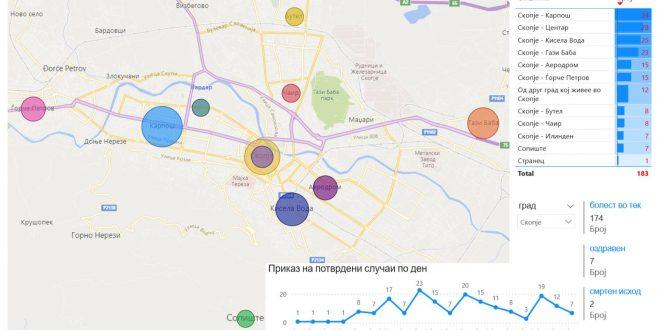 Мапа за Скопје: Овие три скопски општини имаат најголем број на заболени од коронавирусот
