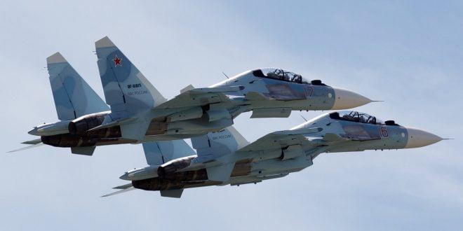 """Руски """"Сухои"""" ги пресретнале американските бомбардери кои денеска го прелетаа Скопје (ВИДЕО)"""