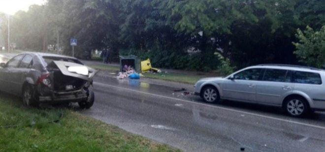 Едно лице е повредено во верижен судир на пет возила во Битола