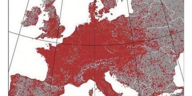 Дали знаете што претставуваат црвените точки? Се појави интересна мапа