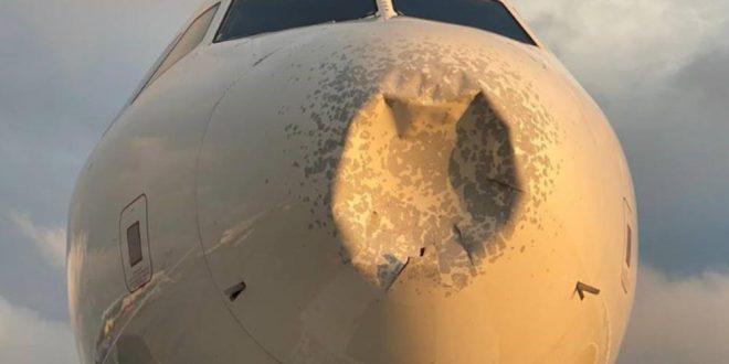 Ербас влета во јато птици: Носот на авионот целосно искршен, морале принудно да слетаат (ВИДЕО)
