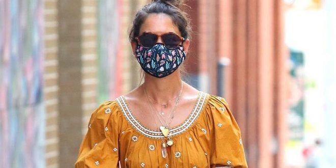 Храбро издание: Кејти Холмс во облека што ја носат жени со самодоверба! (ФОТО)