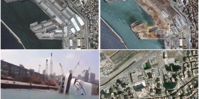Од силината на ударот се превртел крузер: Сателитски снимки ги покажуваат размерите на катастрофата во Бејрут