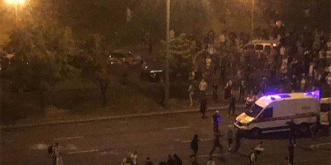 Белорусија: Судири меѓу полицијата и демонстрантите во центарот на Минск