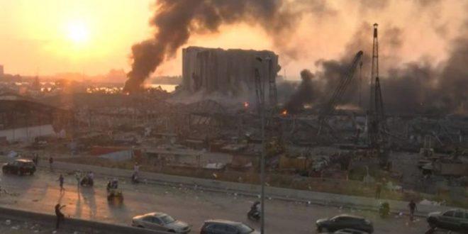 """Секундата, во која Бејрут беше """"срамнет со земја"""" (ВИДЕО)"""