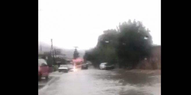 Силните врнежи од дожд ги поплавија улиците низ Охрид (ВИДЕО)