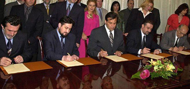 Со Рамковниот договор беше ставен крај на неколкумесечниот конфликт во земјава. Кои беа потписниците?