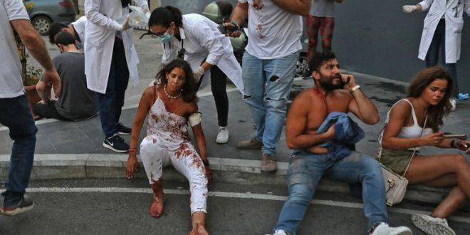 Потресни снимки од болницата во Бејрут по огромната експлозија