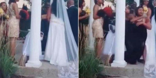 """Бремена жена упадна на свадба и викна: """"Носам твое дете"""" (ВИДЕО)"""