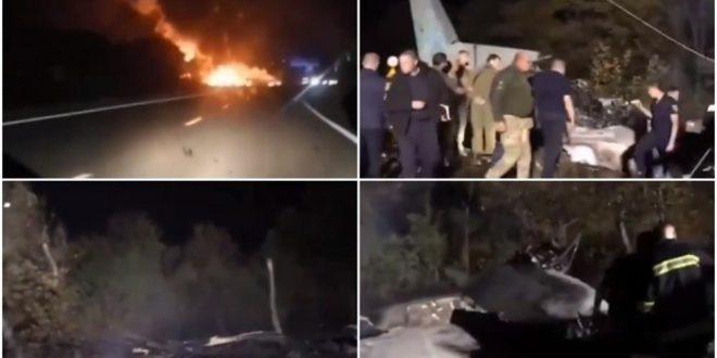Расте бројот на загинати во падот на украинскиот авион: Засега има 25 жртви, ден на жалост во земјата (ВИДЕО)