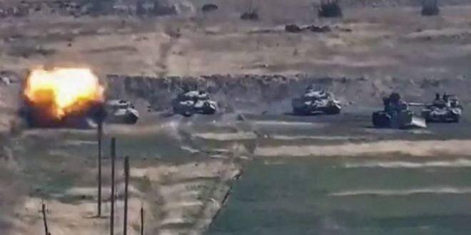 Азербејџан објави видео како граната ги разнесува непријателските војници (ВОЗНЕМИРУВАЧКО ВИДЕО)