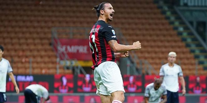 Милан отвори со победа, Ибра двоен стрелец