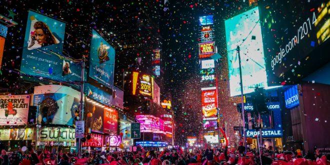 Виртуелна новогодишна ноќ на Тајмс Сквер