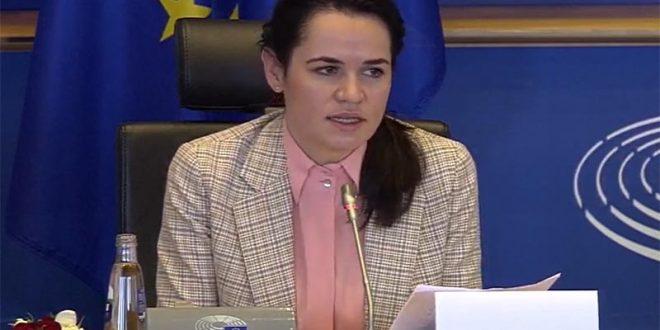 Тихановскаја од Брисел: Белорусија е во длабока политичка криза по украдените претседателски избори