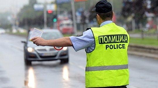 Полицијата казни 393 возачи во Скопје, од кои 164 за пребрзо возење
